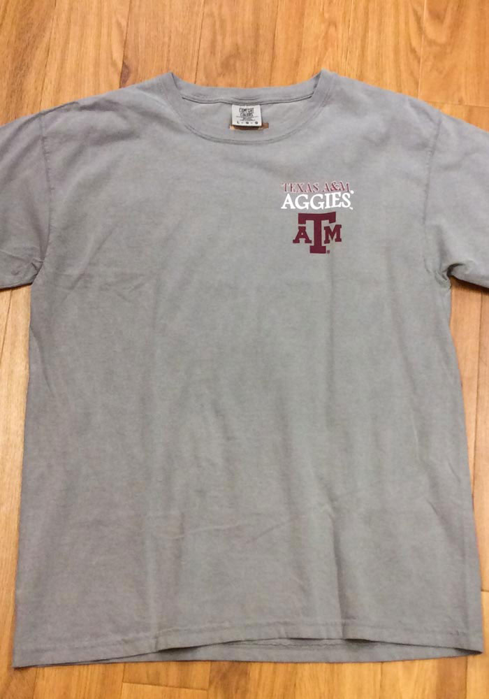 Texas A&M Aggies Womens Grey Exclusive Short Sleeve Unisex Tee - Image 4