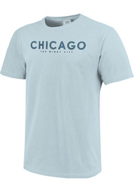 Chicago Light Blue Cloud Gate Sketch Short Sleeve T Shirt