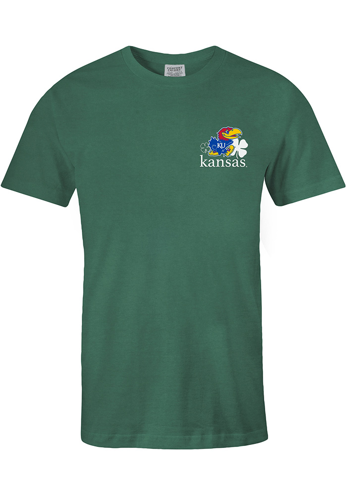 Kansas Jayhawks Green Rock Chalk Shamrock Tee