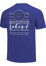Grand Valley State Lakers Womens Comfort Colors Crew Neck T-Shirt - Blue