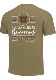 Western Michigan Broncos Womens Comfort Colors Crew Neck T-Shirt - Khaki