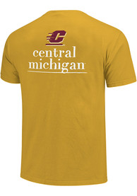 Central Michigan Chippewas Womens Comfort Colors Crew Neck T-Shirt - Gold