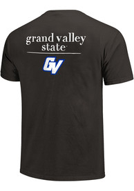 Grand Valley State Lakers Womens Comfort Colors Crew Neck T-Shirt - Grey