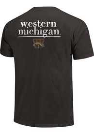 Western Michigan Broncos Womens Comfort Colors Crew Neck T-Shirt - Grey
