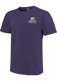 K-State Wildcats Comfort Colors T Shirt - Purple