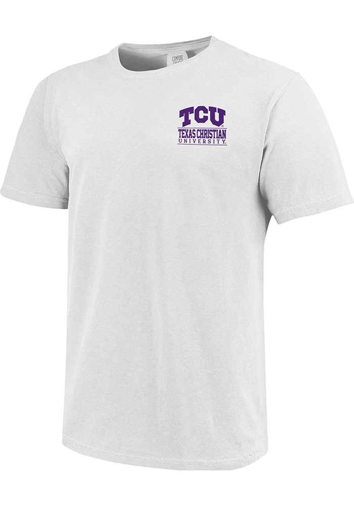 TCU Horned Frogs Comfort Colors T Shirt - White