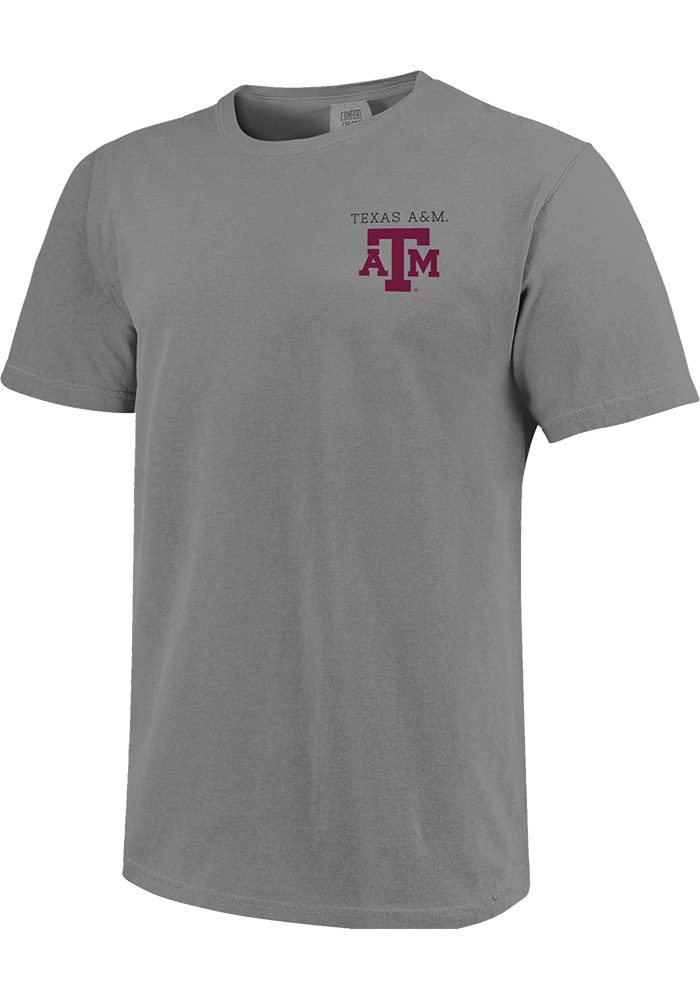 Texas A&M Aggies Grey Comfort Colors Short Sleeve T Shirt - Image 1