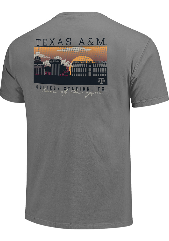 Texas A&M Aggies Grey Comfort Colors Short Sleeve T Shirt - Image 2