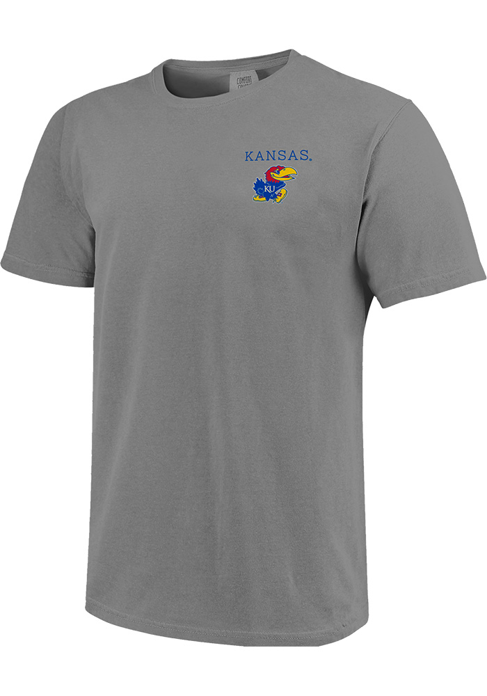 Kansas Jayhawks Comfort Colors T Shirt - Grey