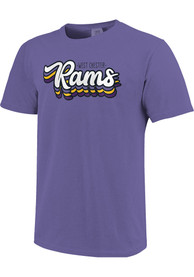 West Chester Golden Rams Womens Retro Stack Script T-Shirt - Purple