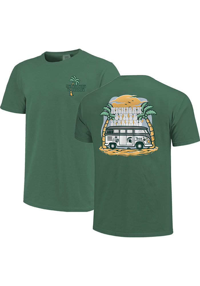 Michigan State Spartans Womens Beach Vibes Short Sleeve T-Shirt - Image 1