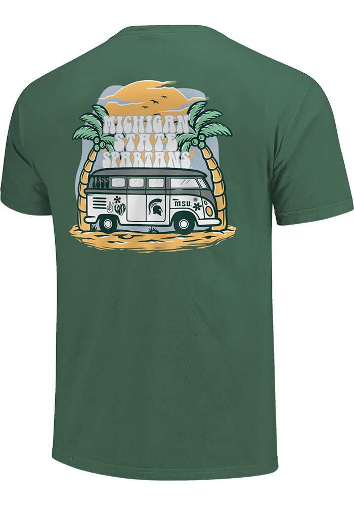 Michigan State Spartans Womens Beach Vibes Short Sleeve T-Shirt - Image 2