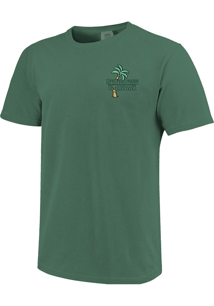 Michigan State Spartans Womens Beach Vibes Short Sleeve T-Shirt - Image 3