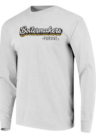 Purdue Boilermakers Womens Retro Stack Script T-Shirt - White