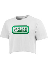 Eastern Michigan Eagles Womens Ombre Oval T-Shirt - White