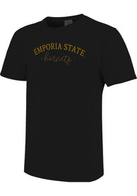 Emporia State Hornets Womens New Basic T-Shirt - Black
