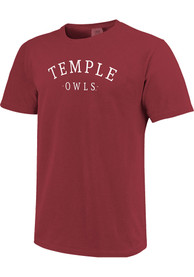 Temple Owls Womens New Basic T-Shirt - Maroon