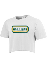 Wayne State Warriors Womens Ombre Oval T-Shirt - White