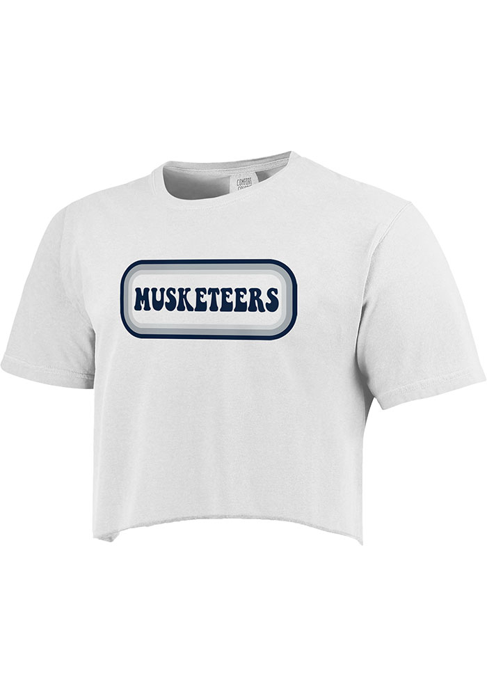Xavier Musketeers Womens White Ombre Oval Short Sleeve T-Shirt - Image 1