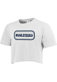 Xavier Musketeers Womens Ombre Oval T-Shirt - White