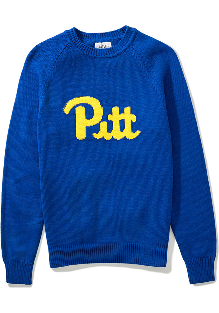 Pitt Panthers Mens Blue School Long Sleeve Sweater - Image 1