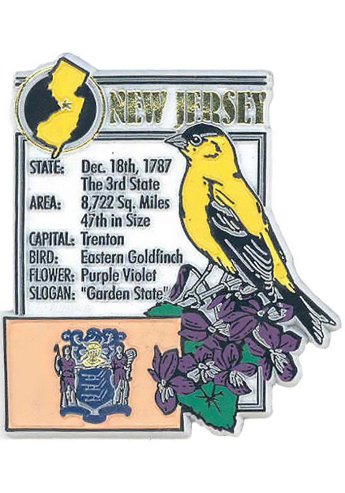 New Jersey State Facts Magnet - Image 1