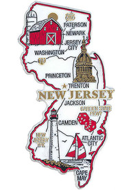 New Jersey State Shape Magnet