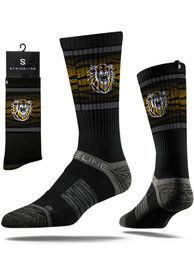 Strideline Fort Hays State Tigers Mens Black Split Crew Socks