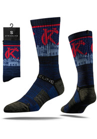 Kansas City Strideline City View Crew Socks - Navy Blue