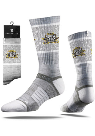 Northern Kentucky Norse Mens Grey Heather Crew Socks