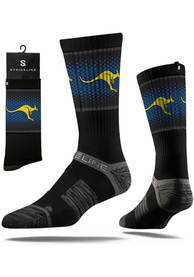 Strideline UMKC Roos Mens Black Split Crew Socks