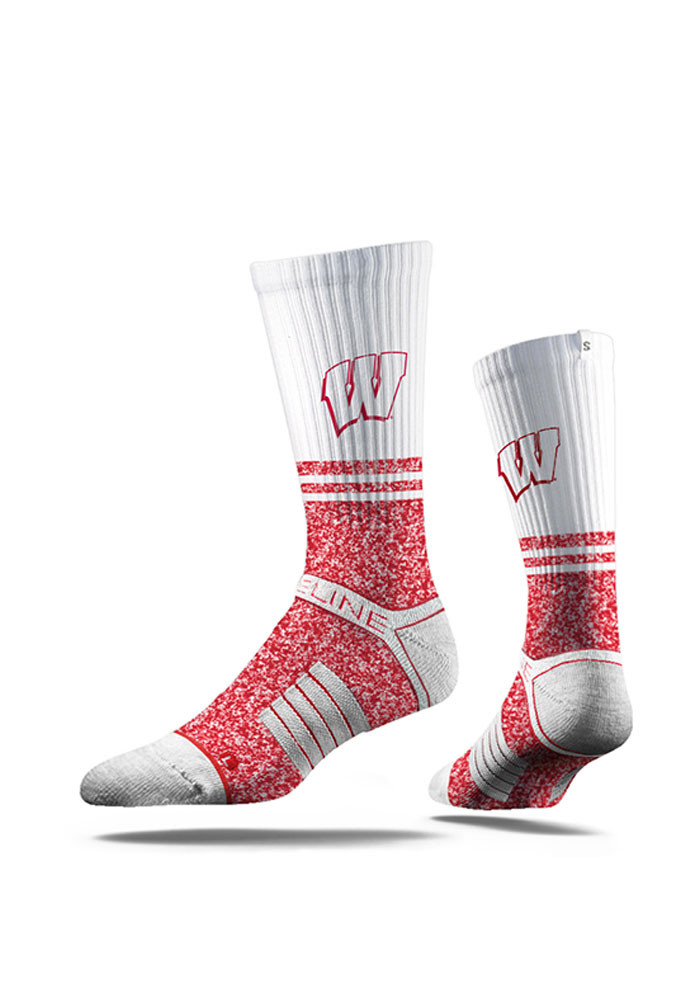 Wisconsin Badgers Split Mens Crew Socks - Image 1
