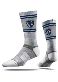 Sporting Kansas City Strideline Fade Stripe Crew Socks - Grey