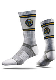 Philadelphia Union Strideline Fade Stripe Crew Socks - Grey