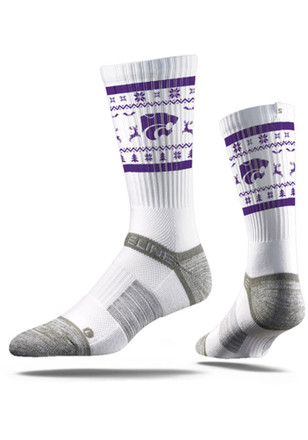 K-State Wildcats Ugly Sweater Crew Socks