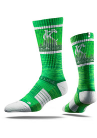 Strideline Kansas City Mens Green St Pats Crew Socks