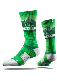 Strideline Chicago Mens Green St Pats Crew Socks