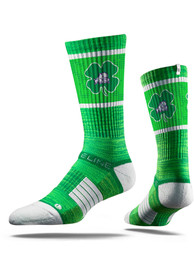 Strideline TCU Horned Frogs Mens Green St Pats Crew Socks