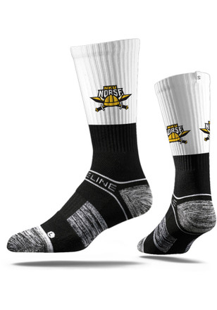 Northern Kentucky Norse Mens Black Split Crew Socks
