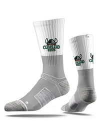 Strideline Cleveland State Vikings Mens Grey Split Crew Socks