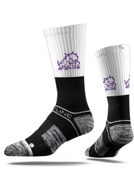 Strideline TCU Horned Frogs Mens Black Split Crew Socks