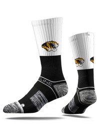 Strideline Missouri Tigers Mens Black Split Crew Socks