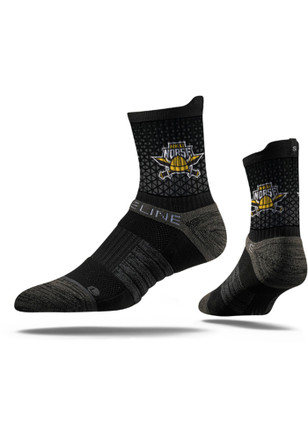 Northern Kentucky Norse Mens Black Team Logo Quarter Socks