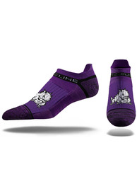 Strideline TCU Horned Frogs Mens Purple Team Logo No Show Socks