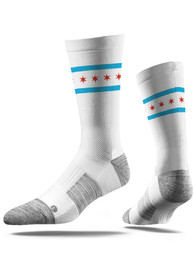 Chicago Strideline Vivicolor Crew Socks - White