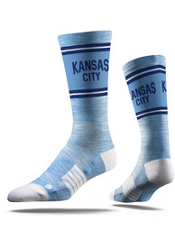 Kansas City Strideline Lenon Vivicolor Crew Socks - Light Blue