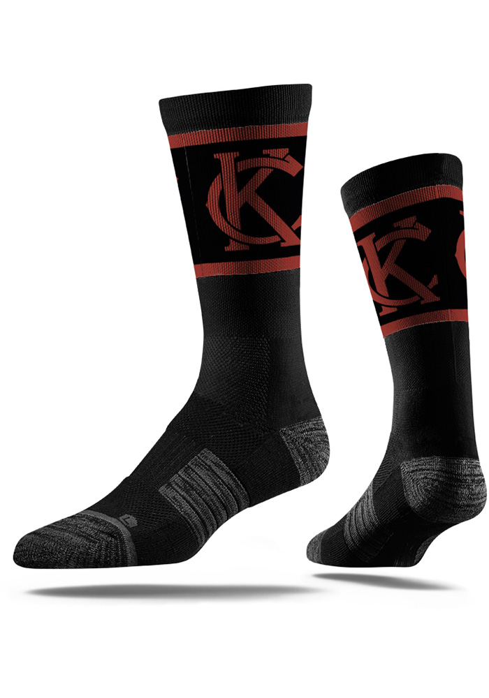 Kansas City Strideline KC Interlock Vivicolor Mens Crew Socks - Image 1