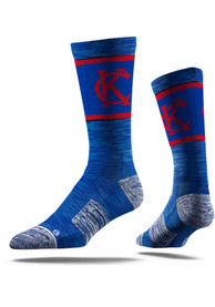 Kansas City Strideline KC Interlock Vivicolor Crew Socks - Blue