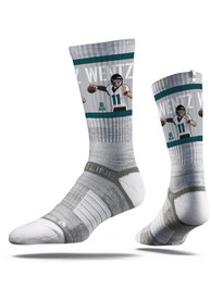 Carson Wentz Philadelphia Eagles Strideline Player Crew Socks - Grey