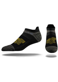 Strideline Wichita State Shockers Mens Black Team Logo No Show Socks